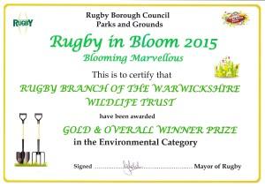 Rugby in Bloom Ashlawn 2015